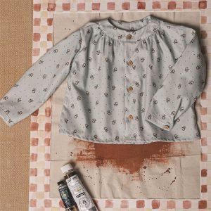 Camisa maho Flor Cobalto