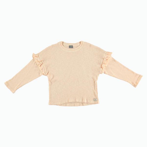 Tocoto Vintage Camiseta manga larga acanalada con volantes