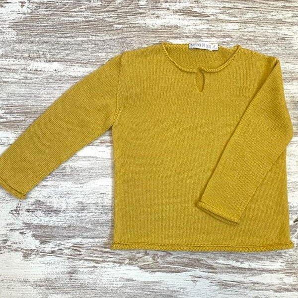 Jersey color mostaza para niño
