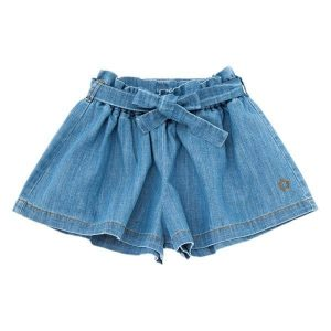 Shorts Denim con cinturón