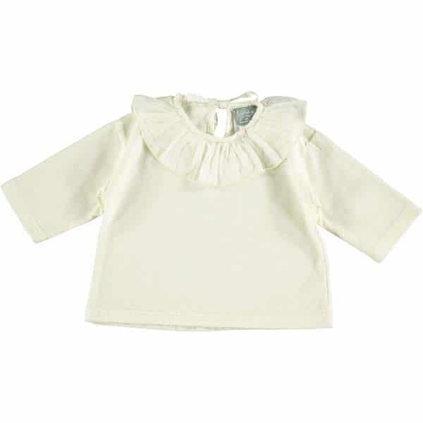 Camiseta de bebé con cuello de velo